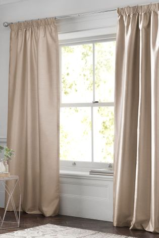 Buy Faux Silk Pencil Pleat Blackout/Thermal Curtains from Next Indonesia