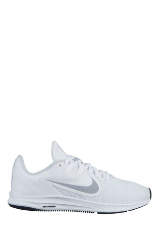 Buy Nike White Downshifter 9 Trainers