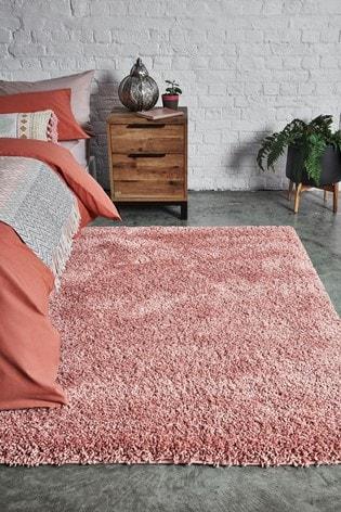 Pink Premium Cosy Shaggy Rug