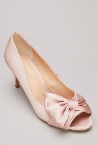 Buy Phase Eight Pink Meaghan Satin Bow