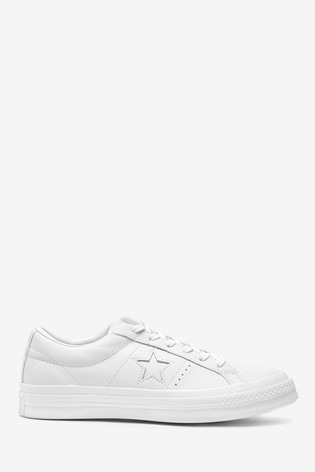 Buy Converse One Star Leather Trainers