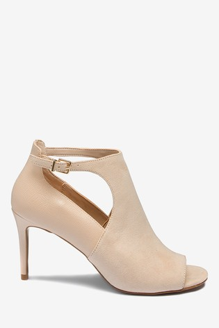 69a2f13413 Buy Nude Cut-Out Peep Toe Shoe Boots from the Next UK online shop