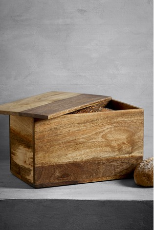 Wooden Bread Bin Food & Kitchen Storage