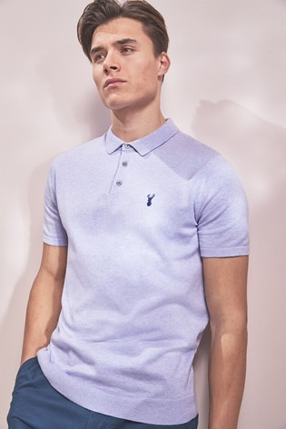 b6cdd0f1f Buy Purple Short Sleeve Knitted Pastel Polo from the Next UK online shop