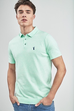 d4ac0419c Buy Aqua Short Sleeve Knitted Pastel Polo from the Next UK online shop