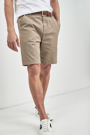6f1cceee9086a2 Buy Stone Ditsy Print Belted Chino Shorts from the Next UK online shop