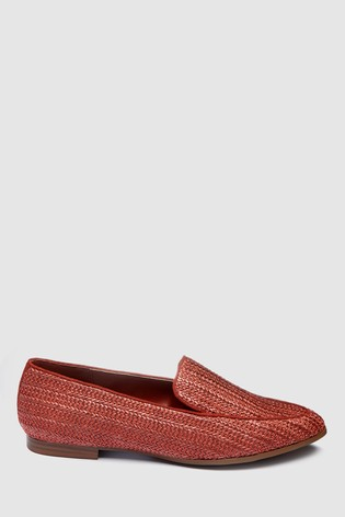 aec60ed493d Buy Rust Raffia Almond Toe Loafers from Next Ireland
