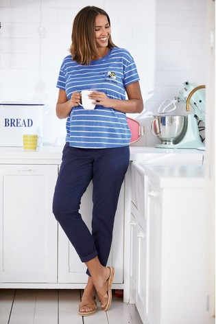 ab0125bab10 Buy Navy Maternity Chino Trousers from the Next UK online shop
