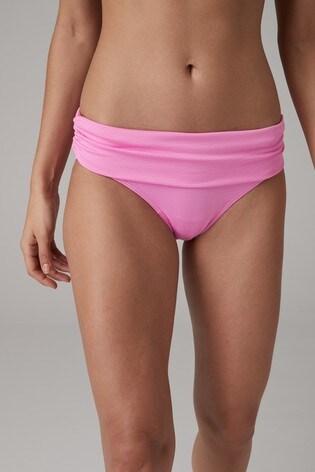 8d9ffad4cd Buy Pink Texture Roll Top Bikini Briefs from the Next UK online shop