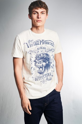 381078ea Buy White Gorilla Graphic T-Shirt from the Next UK online shop