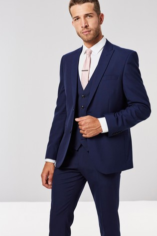 358b50708f6d Buy Bright Blue Slim Fit Two Button Suit: Jacket from the Next UK ...