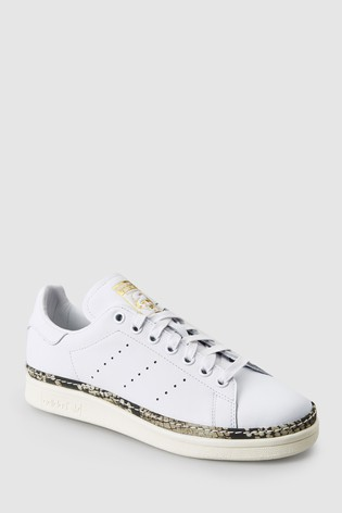 info for dd955 25d8e White adidas Originals Stan Smith Bold ...