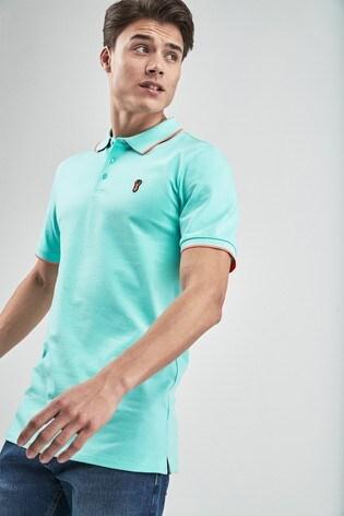 af17e9e97d1 Buy Aqua Neon Tipped Polo from Next Lebanon