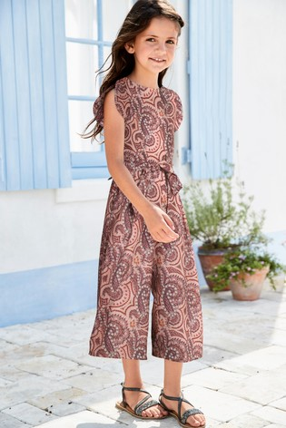 b8b6bbb616 Buy Pink Paisley Print Playsuit (3-16yrs) from the Next UK online shop