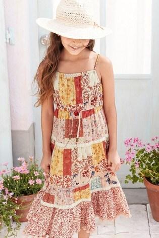 Roze Maxi Jurk.From Next Netherlands Buy Multi Pink Patch Print Maxi Dress 3 16 Jr