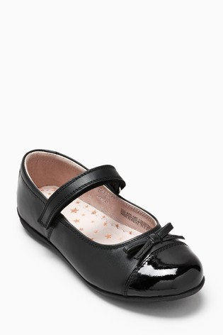 cb4202276378 Buy Black Narrow Fit Patent Toe Cap Mary Jane Shoes (Older) from the ...