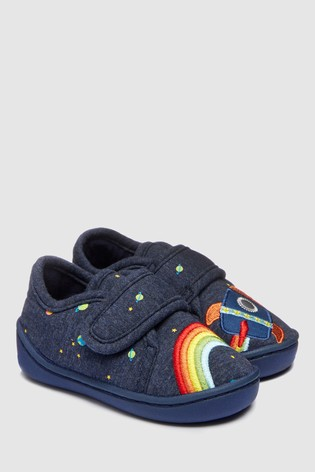 1d4635519 Buy Navy Rainbow Rocket Slippers (Younger) from the Next UK online shop