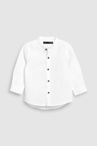 5497becd00ea1 اشترِ قميص أبيض من مزيج الكتان بياقة صغيرة (3 شهور -7 سنوات) from ...
