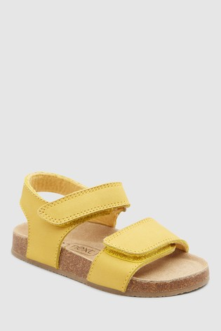 affb60450 Buy Ochre Smart Leather Corkbed Sandals (Younger) from Next Saudi Arabia