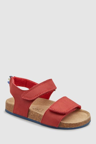2a142c568 Buy Red Smart Leather Corkbed Sandals (Younger) from the Next UK ...