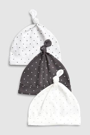 f4cae784d34 Buy Monochrome Mini Stars Tie Top Hats Three Pack (5-12mths) from ...