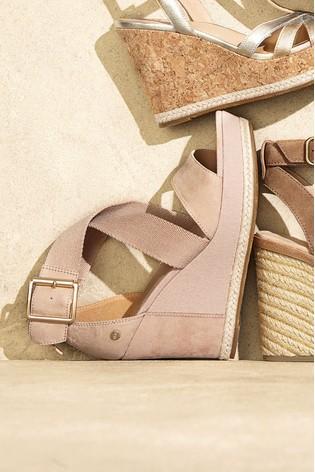 fe34eb7b2dbc Buy UGG® Calla Pink Chunky Strap Wedge from Next Ireland
