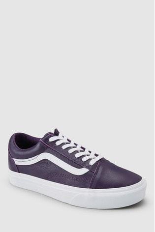 2b8f14f918 Buy Vans Purple Leather Old Skool Trainer from Next Ireland