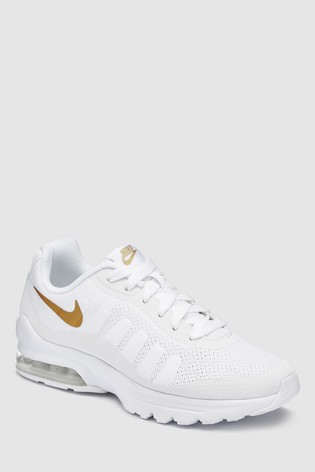 best sneakers afa2c 216cb Nike White Gold Air Max Invigor Youth ...