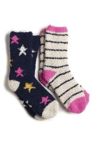 Buy Pinknavy Bed Socks Two Pack From Next Malaysia
