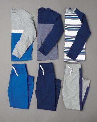 Buy Blue Stripe Pyjamas Three Pack (3-16yrs) from Next Qatar 577be4533