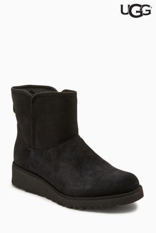UGG® Black Kristin Wedge Mini Boot