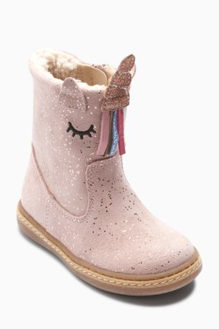 Pink Unicorn Boots (Younger)