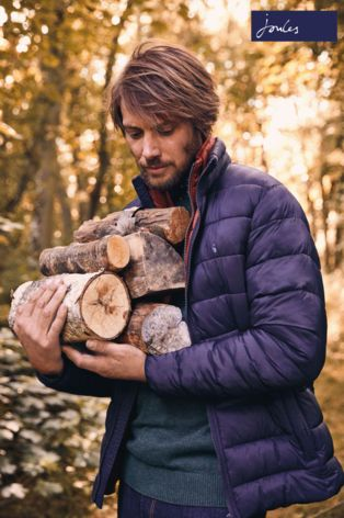 Buy Joules Navy Lightweight Barrel Quilted Jacket From The Next Uk