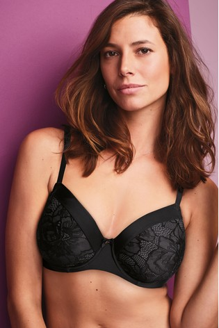 e691b7f4ec Buy Black DD+ Georgie Minimising Lace Full Cup Bra from Next Slovakia