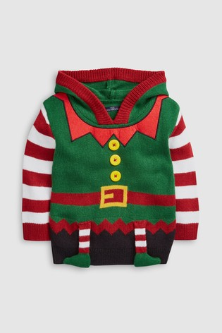 Kersttrui 68.From Next Netherlands Buy Green Younger Kids Christmas Elf Jumper 3