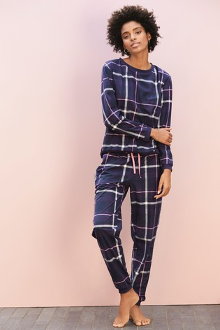 Buy Navy Check Pyjamas With Ribbon Wrapping from Next Hong Kong 244198dd8