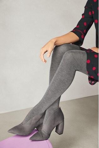 37e926398c58 Buy Grey Banana Heel Shoe Boots from Next Malta
