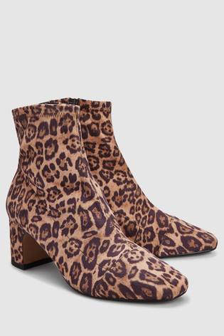 buy leopard print sock ankle boots from next japan