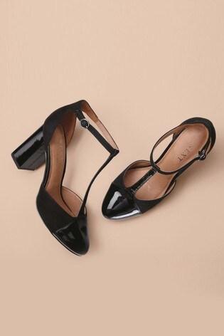 Buy Black T-Bar Block Heels from Next Turkey