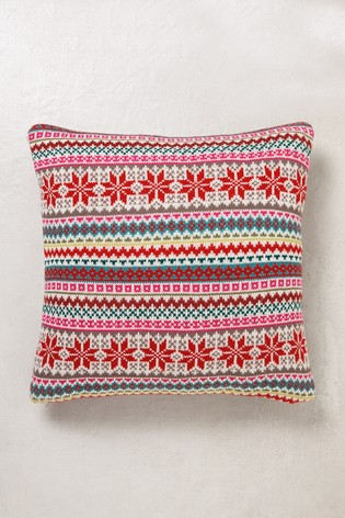 Buy Fairisle Pattern Knitted Cushion From The Next Uk Online Shop