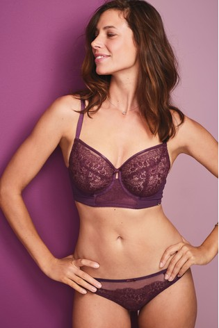 Buy Plum DD+ Lizzie Embroidered Non Padded Balcony Bra from Next ... 50059a350