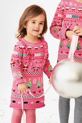 Kersttrui Jurk.From Next Netherlands Buy Pink Girls Christmas Wrapping Paper Jumper