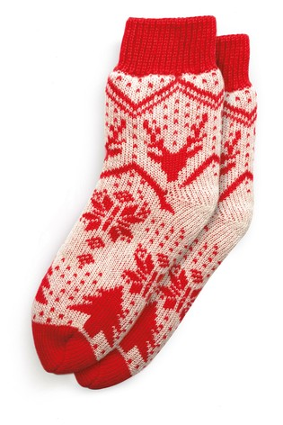 Buy Red Fairisle Pattern Knitted Bed Socks From The Next Uk Online Shop