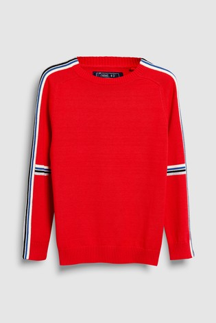 dcc8dc9d33b3 Buy Red Side Stripe Crew (3-16yrs) from Next Hong Kong