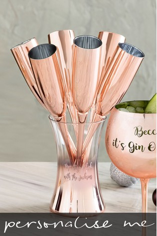 Buy Personalised Rose Gold Champagne Flutes From The Next Uk Online Shop