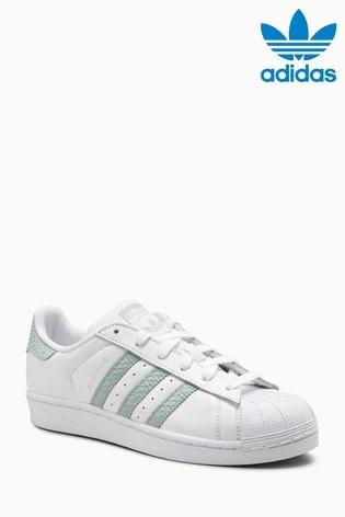 adidas Originals White/Mint Superstar