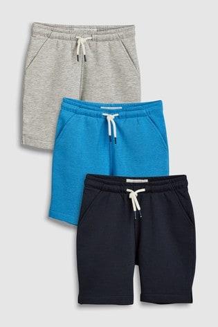 e90508300 Buy Navy/Grey/Blue Shorts Three Pack (3-16yrs) from Next Ireland