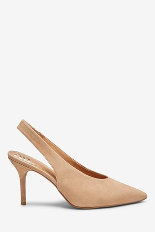 Buy Mink Suede Leather Pointed Slingbacks from the Next UK online shop