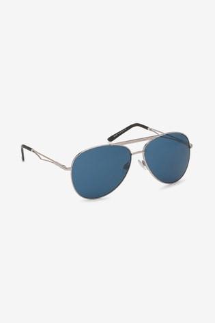 Next Aviator Sunglasses Buy Style From The Uk Silver Toneblue CxoerBWd