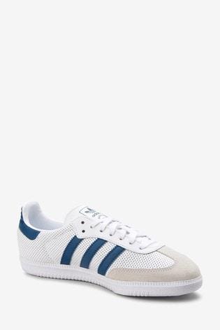 5e07377d4 Buy adidas Originals White/Navy Samba OG Youth from the Next UK ...